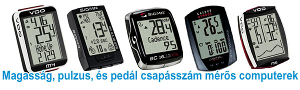 Kerékpár comuterek magasság, pulzus és csapásszám méréssel
