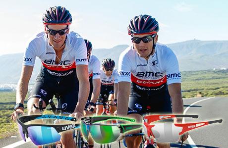 UVEX kerékpáros szemüvegek. Team BMC